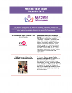 December Network Member Highlights – How are you strengthening your community?