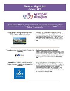 January Member Agency Highlights