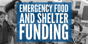 Update: Grant Application Announcement re Emergency Food & Shelter Program